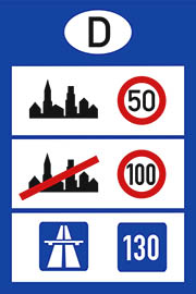 Speed limit in Romania